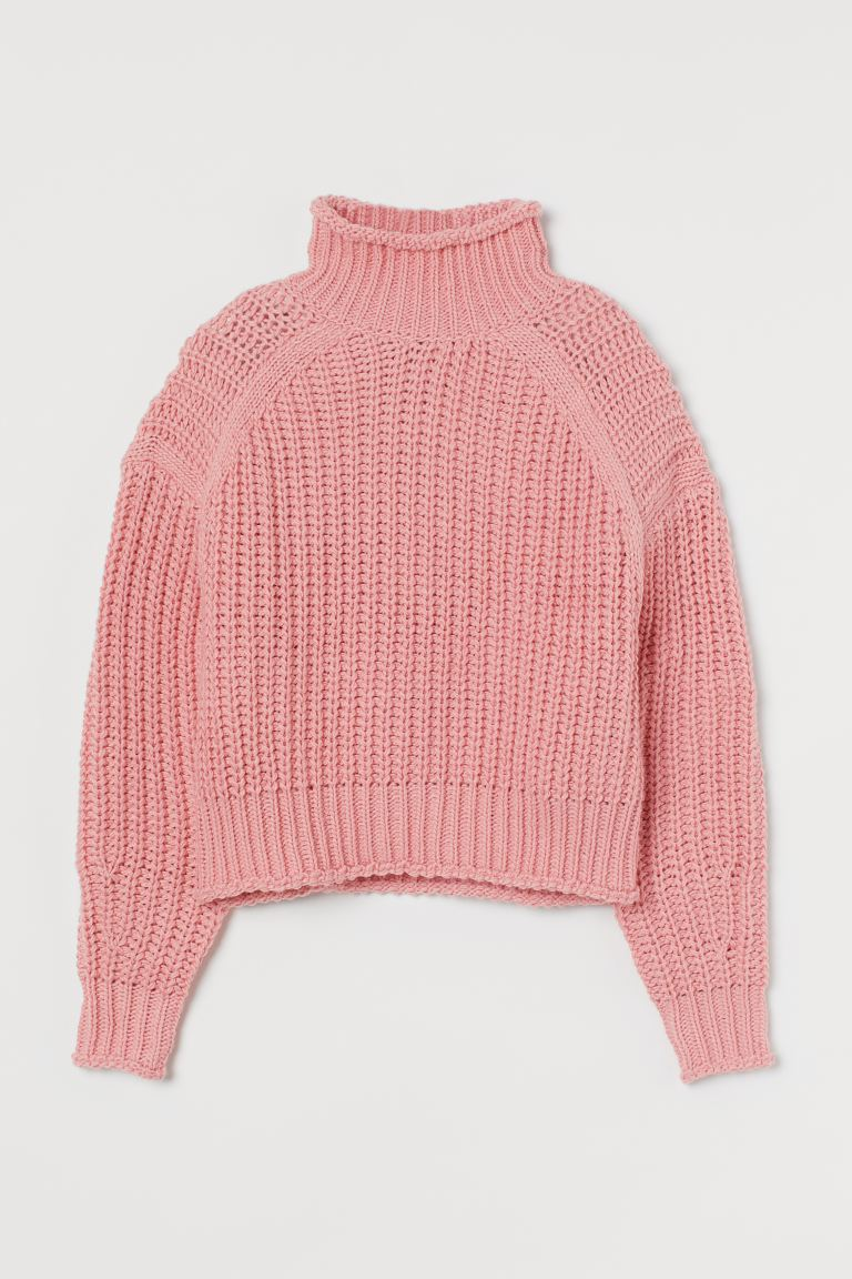 Ροζ πουλόβερ, H&M.